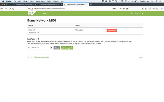 Bome Network midi