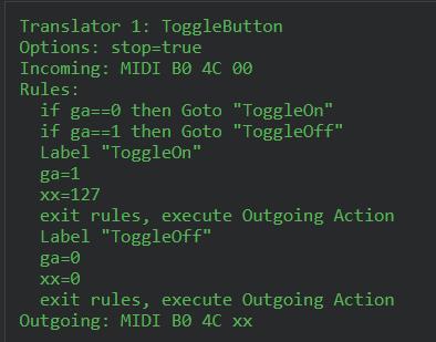 Toggle Formula